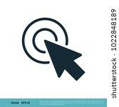 pointer arrow icon vector logo... | Shutterstock .eps vector #1022848189