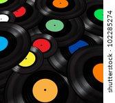 vinyl records background | Shutterstock .eps vector #102285274