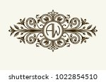 stylish graceful monogram  ...   Shutterstock .eps vector #1022854510