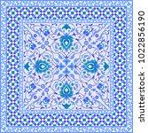 blue and white ornamental tile... | Shutterstock .eps vector #1022856190
