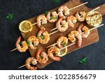 Grilled Shrimp Skewers. Seafoo...