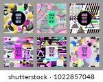 glitch futuristic posters ...   Shutterstock .eps vector #1022857048