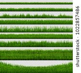 grass border collection | Shutterstock . vector #1022857486