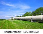 industrial pipe with gas and oil | Shutterstock . vector #102286060