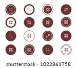 a set of buttons for clothes.... | Shutterstock .eps vector #1022861758