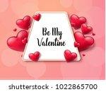 2018 valentine's day background ... | Shutterstock .eps vector #1022865700