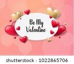 2018 valentine's day background ... | Shutterstock .eps vector #1022865706