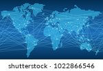 seamless map of the global... | Shutterstock .eps vector #1022866546