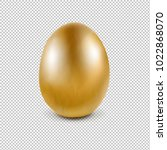 golden egg isolated transparent ... | Shutterstock .eps vector #1022868070