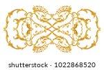 Openwork Arabesque With Golden...
