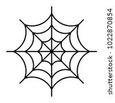 vector illustration of cobweb | Shutterstock .eps vector #1022870854