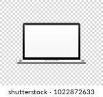 laptop realistic vector... | Shutterstock .eps vector #1022872633
