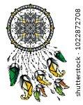 hand drawn native american...   Shutterstock .eps vector #1022872708