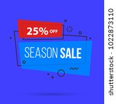 season sale banner template in... | Shutterstock .eps vector #1022873110