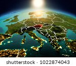 sunrise above austria... | Shutterstock . vector #1022874043