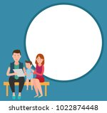 family mother father and son... | Shutterstock .eps vector #1022874448