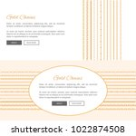 gold chains and text sample... | Shutterstock .eps vector #1022874508