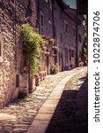 tuscany street in springtime    ...   Shutterstock . vector #1022874706