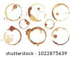 coffee and tea stains left by... | Shutterstock .eps vector #1022875639