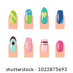 nail service and art  poster... | Shutterstock .eps vector #1022875693