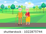 granny and granddad poster ... | Shutterstock .eps vector #1022875744
