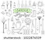 Hand Drawn Graphic Garden Tools ...