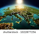 sunrise above slovenia... | Shutterstock . vector #1022877256