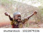 water is coming  african... | Shutterstock . vector #1022879236