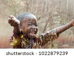little native african boy... | Shutterstock . vector #1022879239