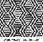 seamless op art pattern.... | Shutterstock .eps vector #1022883604