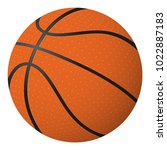 basketball ball isolated object ...   Shutterstock .eps vector #1022887183