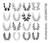 big set of hand drawn vector... | Shutterstock .eps vector #1022890738