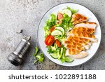 chicken breast or fillet ... | Shutterstock . vector #1022891188