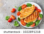 chicken breast or fillet ...   Shutterstock . vector #1022891218