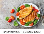 chicken breast or fillet ... | Shutterstock . vector #1022891230
