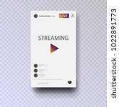 video streaming on smartphone.... | Shutterstock .eps vector #1022891773