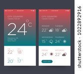 weather forecast app ux ui...