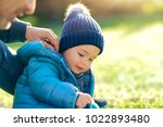 father with little son playing...   Shutterstock . vector #1022893480