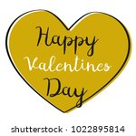 valentines day card with gold... | Shutterstock .eps vector #1022895814