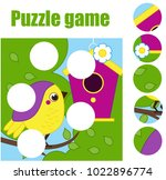puzzle for toddlers. matching... | Shutterstock .eps vector #1022896774