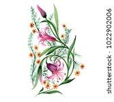 wildflower ornament flower in a ...   Shutterstock . vector #1022902006