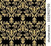 orient vector classic pattern....   Shutterstock .eps vector #1022902750