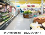 supermarket grocery store with... | Shutterstock . vector #1022904544