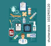 medical services infographics... | Shutterstock .eps vector #1022905120
