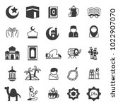set of islamic icons  use for... | Shutterstock .eps vector #1022907070