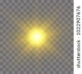 vector yellow sun with rays and ... | Shutterstock .eps vector #1022907676