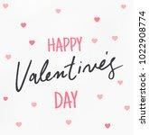 happy valentines day typography ... | Shutterstock .eps vector #1022908774