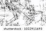 grainy black and white distress ... | Shutterstock .eps vector #1022911693