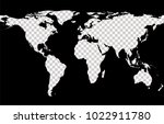 worldwide map with imitation of ... | Shutterstock .eps vector #1022911780