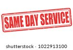 same day service sign or stamp... | Shutterstock .eps vector #1022913100